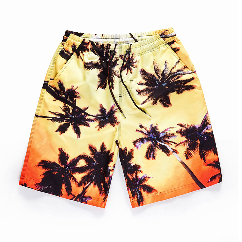 Summer Beach   Shorts   Polyester Men Swimming Trunks Breathable Quick Dry Sport Surf Men's   Board     Shorts   Beach Wear