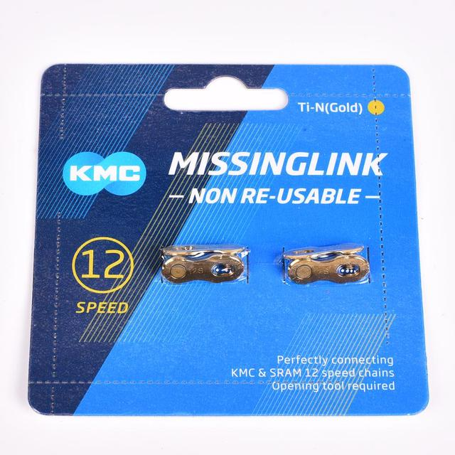 KMC Chain magic buckle 11 speed silver gold KMC Missing Link Bicycle Chain Link 6/7/8s 9s 10s 11s 12S bicycle quick magic button