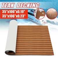 Self Adhesive 2700x900x6/5mm EVA Foam Faux Teak Decking Sheet Marine Boat 35 X 95 6MM Thick DIY Protective Floor Carpet