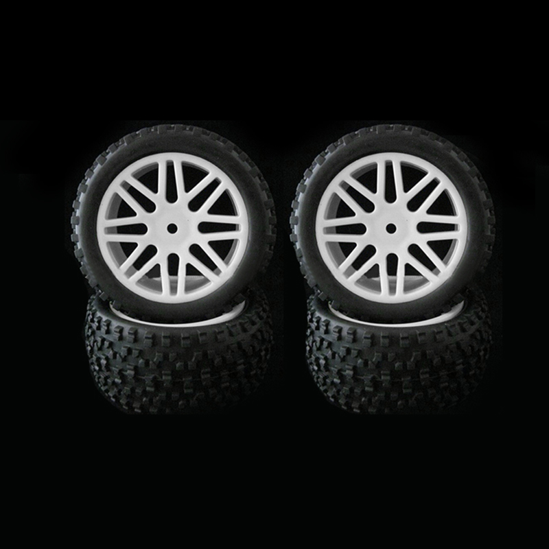 Image 3 - 4pcs Wheel Rim & Rubber Tyre Tires For RC 1/10 Off Road Car Buggy Replacement-in Parts & Accessories from Toys & Hobbies