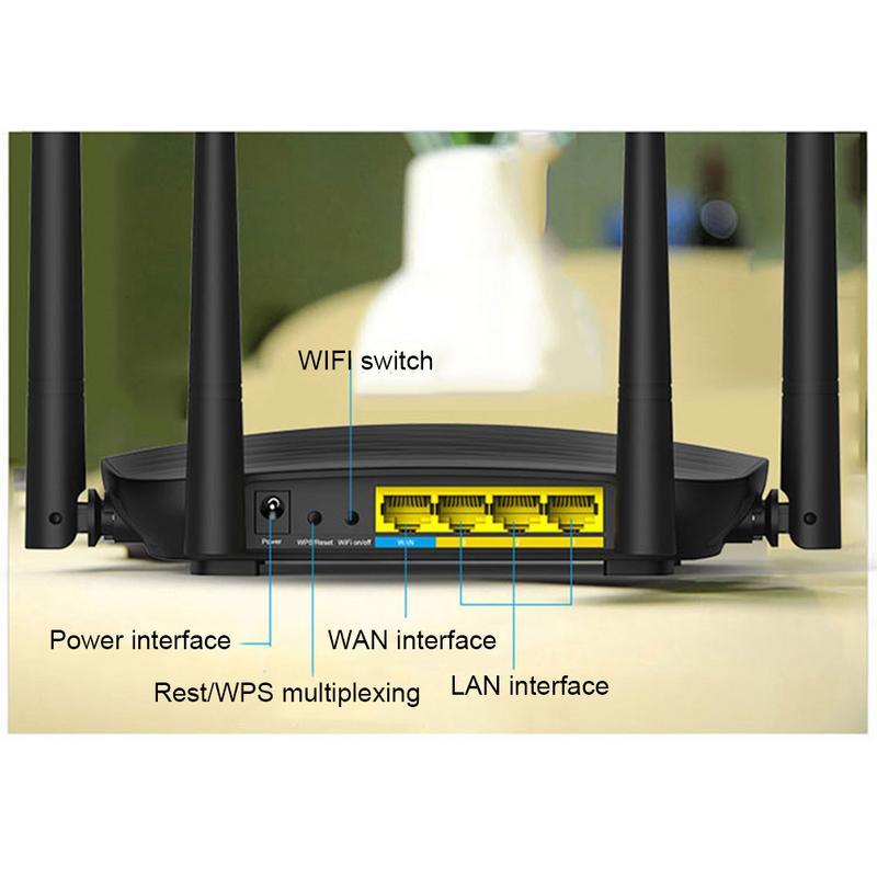 Pour Tenda AC5 Haute Puissance 1200 M Double Bande 5G Gigabit Sans Fil routeur wifi Maison Télécommunications À Large Bande