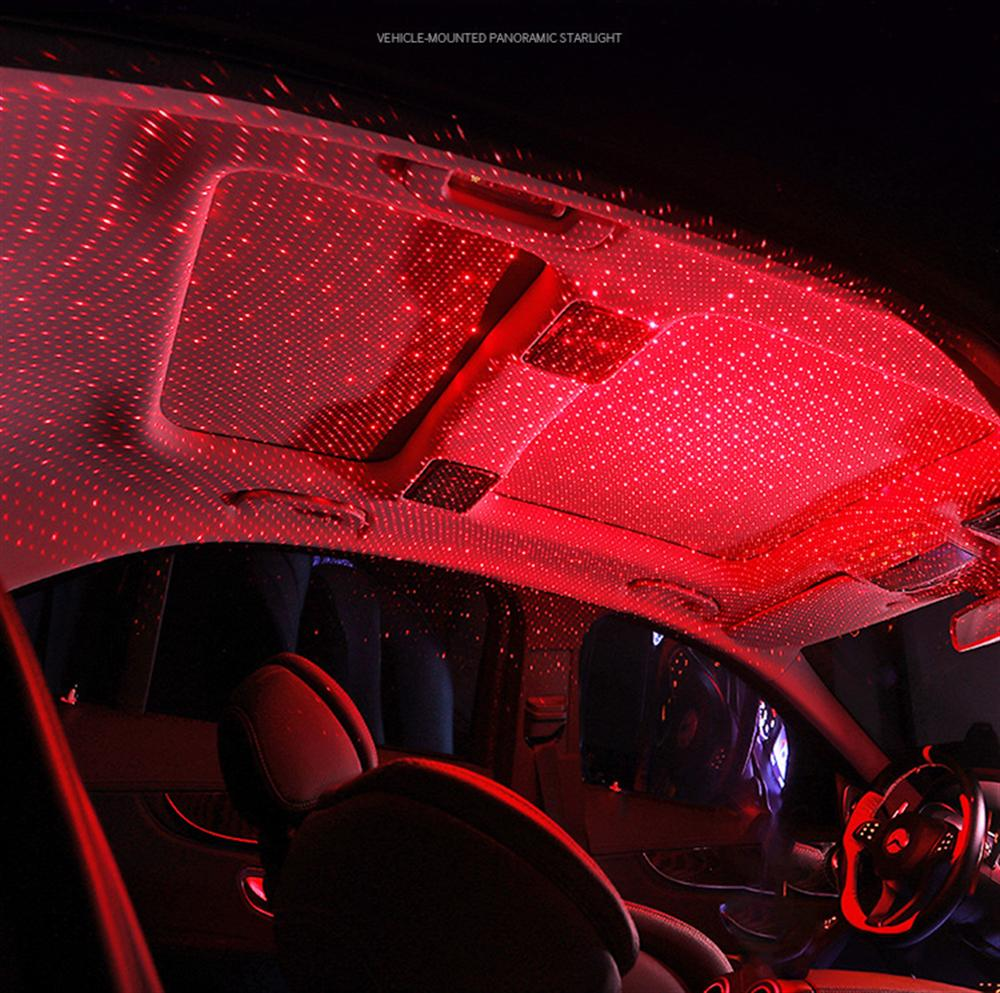 Car Atmosphere Ambient Star Light Dj Rgb Colorful Music Sound Lamp Christmas Interior Decorative Light