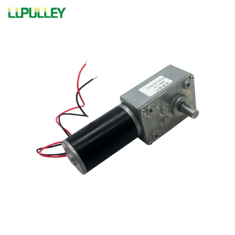 все цены на LUPULLEY Turbo Worm Geared DC Motor GW31ZY 12V 24V 24W Reversible Rotate Motors Slow Speed 12/16/27/40/80/160/260/470rpm онлайн
