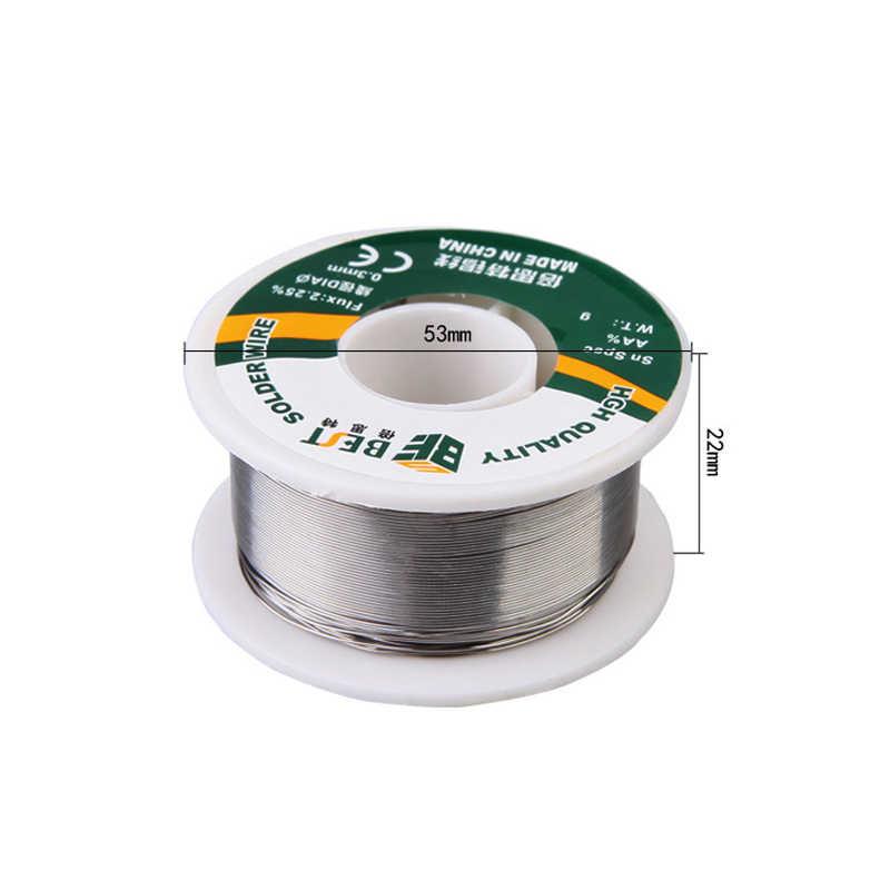 최고의 1 pcs 주석 라인 100g 수석 솔더 와이어 용접 와이어 주석 납 라인 로진 코어 플럭스 납땜 0.3/0.4/0.5/0.6/0.8/1/1.2mm new