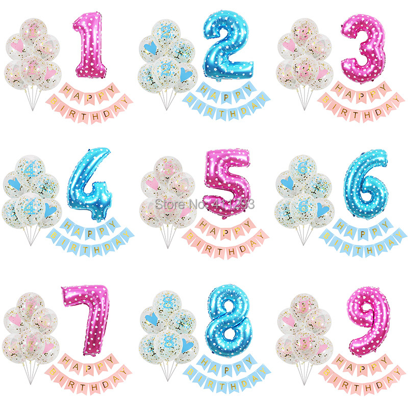 1st birthday <font><b>balloons</b></font> 1 2 3 4 5 6 7 <font><b>8</b></font> 9 year birthday <font><b>balloons</b></font> boy girl kids birthday banners party decorations digital ballons image