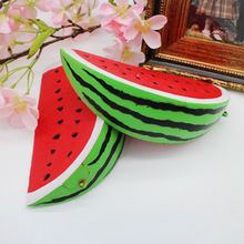 18cm Slow Rising Squishy Jumbo Watermelon Fruit Scented Bread Squeeze Toy Decor jumbo squishy strawberry scented toy