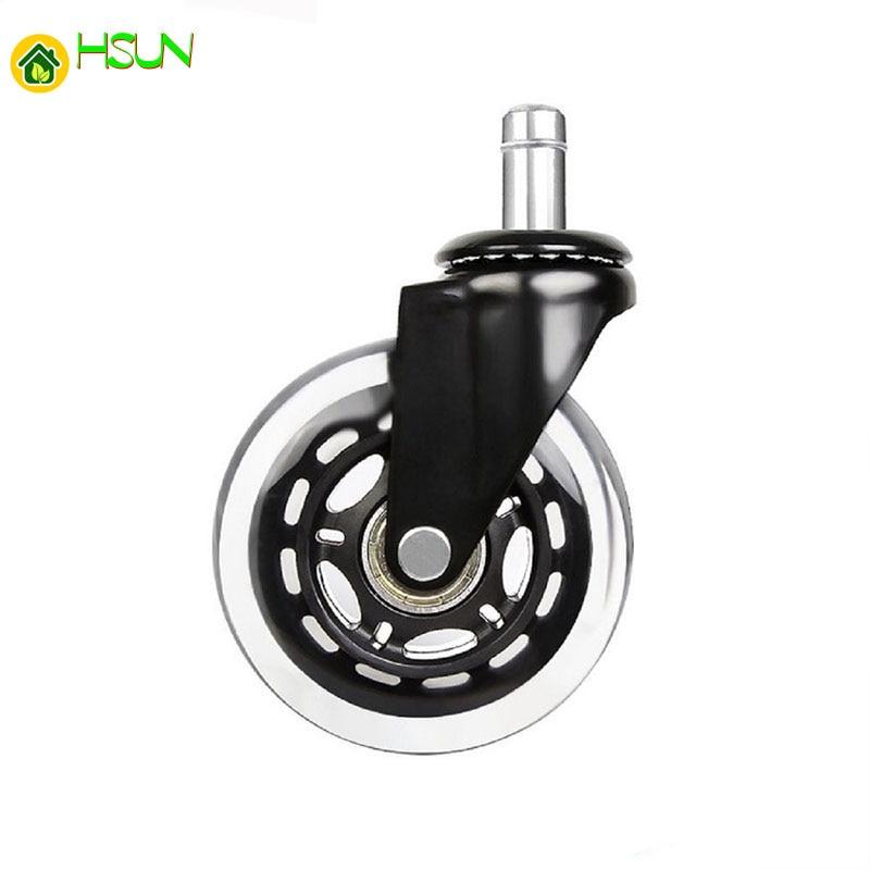 Steering Wheel Casters Universal Small Mute Wheel Cart Wear-Resistant PU Wheel G