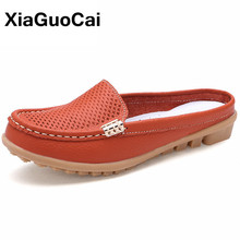 купить Spring Autumn Women Casual Shoes Moccasins Breathable Slip-On Mother Loafers Soft Leisure Flats Ladies Driving Footwear Gommino онлайн