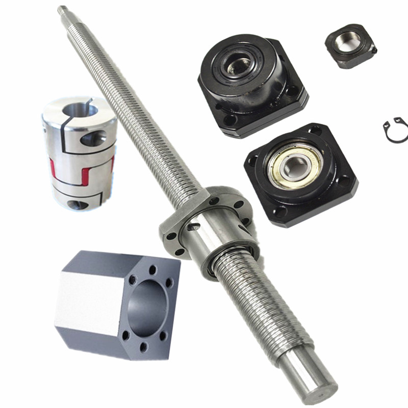 SFU3210  - 2500mm ball screw with ball nut + BK/BF25  or FK/FF25 or EKEF25 Support +3205 Nut housing + 20*14mm Coupling