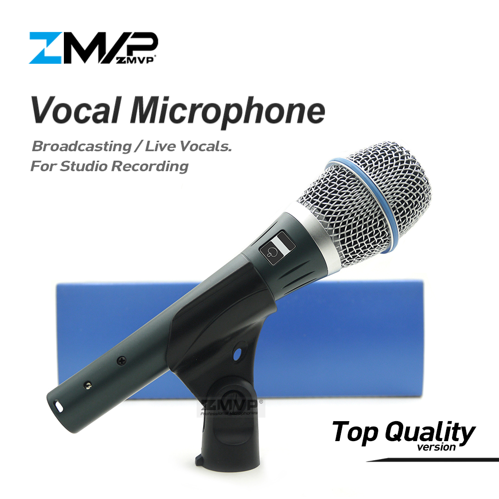 Top Quality Version B 87A Professional Super-cardioid 87A Vocals Studio Broadcasting Condenser Microphone with Real Condenser citizen ew2470 87a