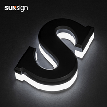 цены Outdoor 3d custom metal stainless steel halo lit letter illuminated led backlit logo sign