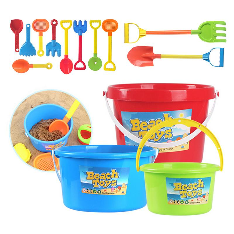 Kids Beach Toy Set Plastic Shovel Bucket Shovels Rake Hourglass Bucket Children Outdoor Beach Playset Sand Set For Girls Boys