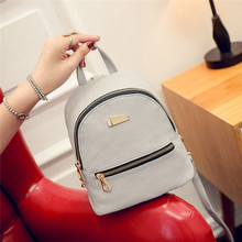 women backpack leather school bags for teenager girls Pu Leather female Fashion preppy style small