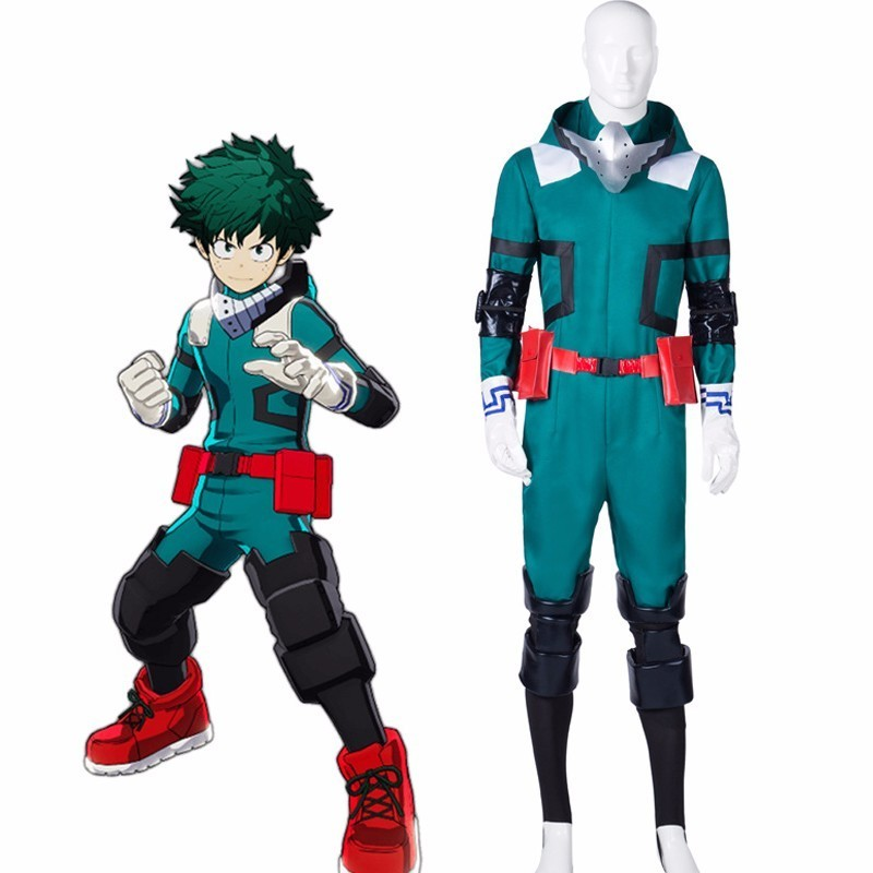 Anime My Hero Academia Boku No Hero Academia Midoriya Izuku Deku Battle Uniform Full set Cosplay Costume