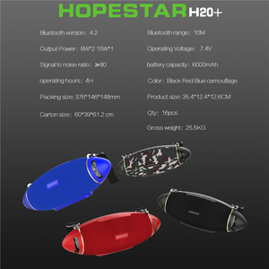 Image 5 - HOPESTAR H20 + Bluetooth Lautsprecher bass 30 W Drahtlose Tragbare Spalte Boombox Player Wasserdichte Bass Outdoor Subwoofer