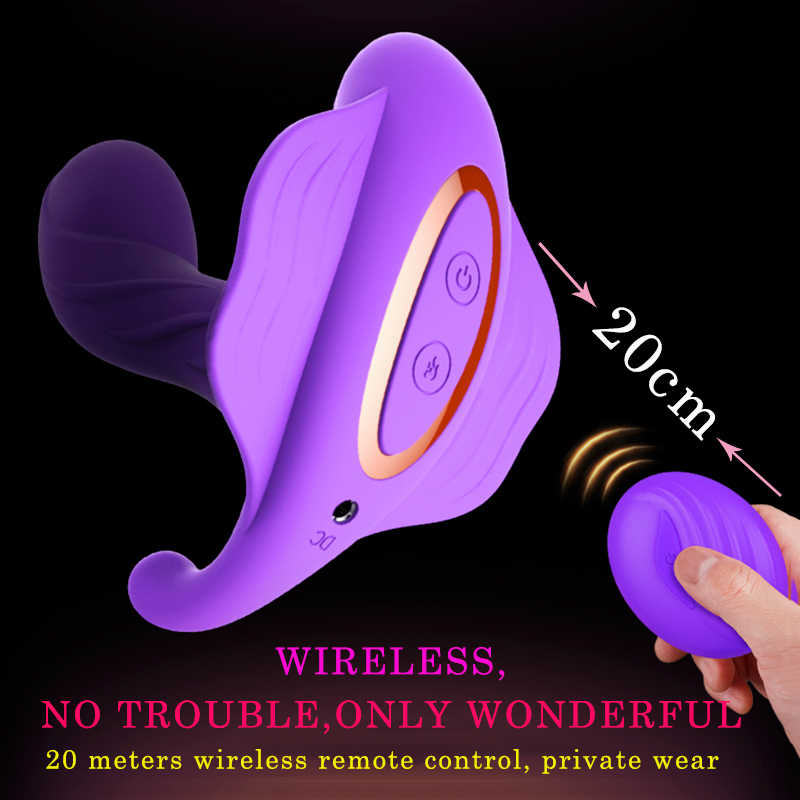 Wearable Butterfly Vibrator Sex Toys for Women Masturbator Clitoris Stimulator Wireless Remote Control Vibrator Made In China