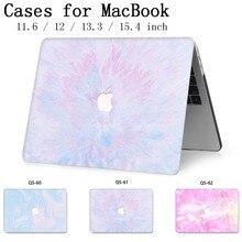 Чехол для ноутбука MacBook Чехол для ноутбука чехол для MacBook Air Pro retina 11 12 13 15,4 дюймов с защитой экрана крышка клавиатуры