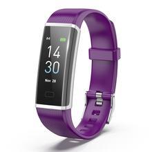 Fitness Tracker z kolorowym ekranem tętno sportowy producentów krok IP68 wodoodporna automatyczne śledzenie snu inteligentna bransoletka