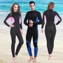 New 3mm Wetsuit Surf Suits Winter Swimming Diving Suit Men Women Lovers Warm Snorkeling Long-sleeved Thickening Jellyfish S656 цена