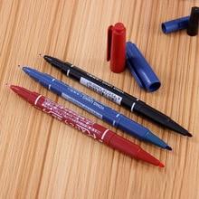 1 шт. многофункциональная двойная головка маркерная ручка фотоальбом живопись Декор черный/синий/красный маслянистый Перманентный крючок линия ручка для рисования DIY