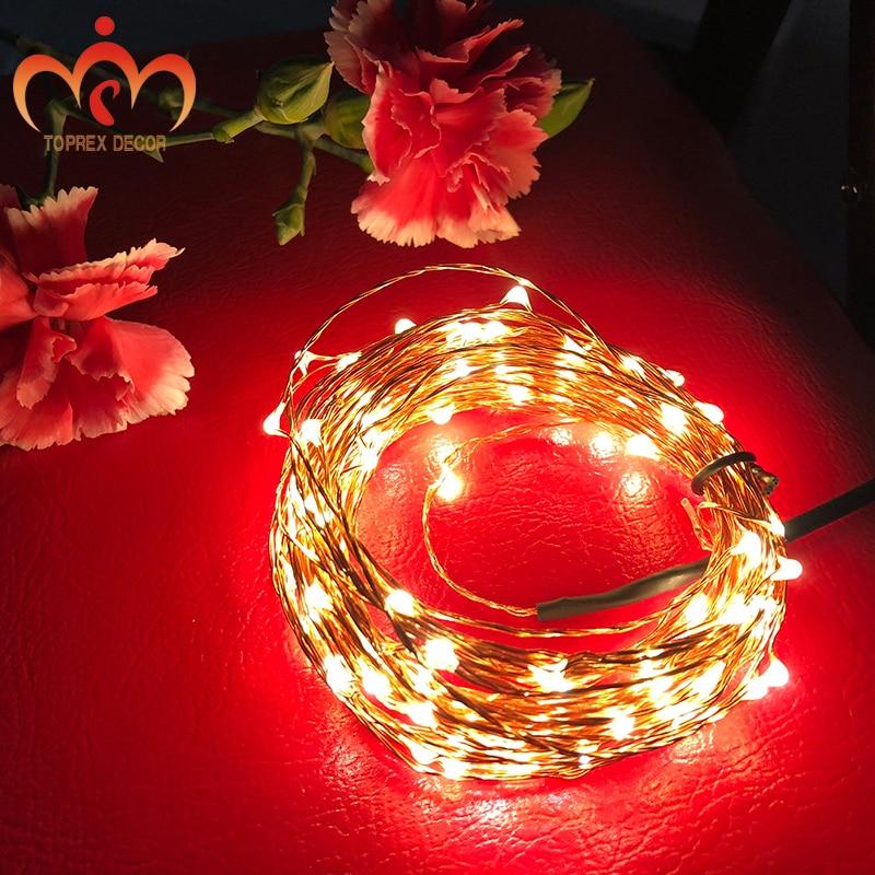 USB 5V 안전 전압 10m LED 구리 문자열 빛 크리스마스 - 휴일 조명 - 사진 2
