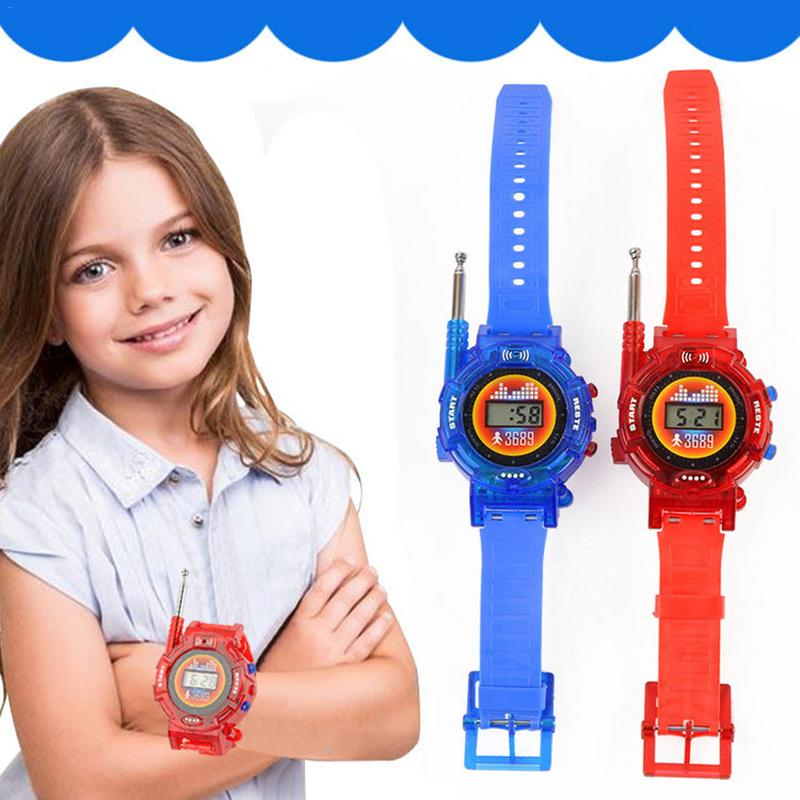 2pcs 7 In 1 Walkie Talkie Watch Children Intercom Toy Outdoor Parent Child Interaction Interphone Toy