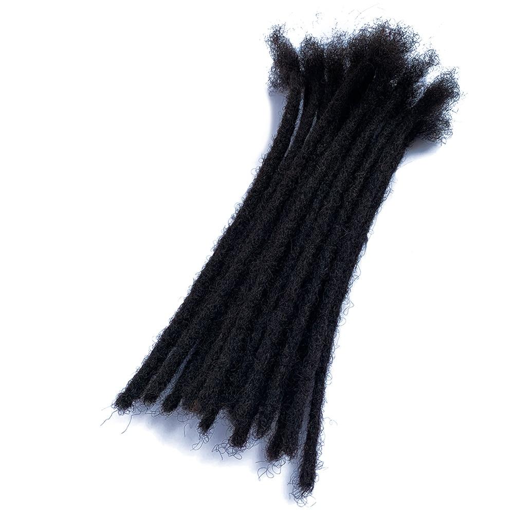 YONNA Human Hair Dreadlocks Microlocks Sisterlocks Dreadlocks Hair Extensions 20Locs Full Handmade Natual Black #1B(0.4cm Width)