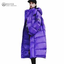Winter Jacket Women Plus Size Parka Female Thick Warm Outwear Stand Collar Hooded Long Coat Cotton Padded Snow Wear 2019 Okd547(China)