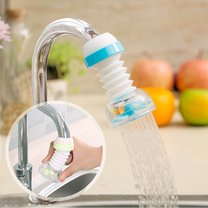 Kitchen Use Extended Filter Shower Head Water Saving Device Portable Rotate 360 Degree 1 Pcs Water-saving Tap Nozzle