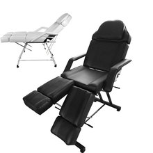 Panana Professional Massage Bed Chair Facial Beauty Barber Couch Bed Stool For Tattoo Therapy Salon Removable Cushion White