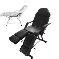 Panana Professional Massage Bed Chair Facial Beauty Barber Couch Bed Stool For Tattoo Therapy Salon Removable Cushion Black