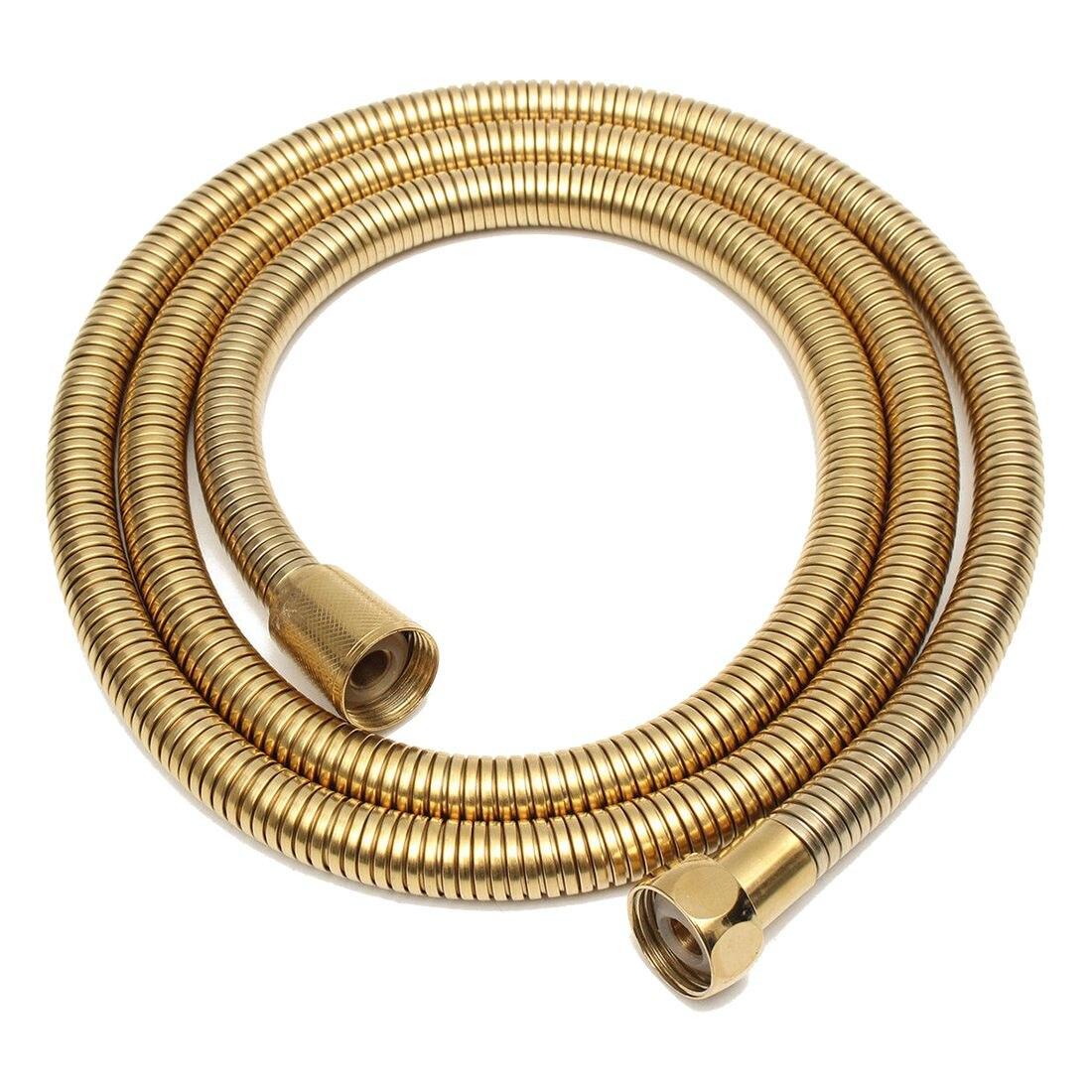 SANQ 1.5m Gold Shower Head Hose Long Flexible Stainless Steel Bathroom Water Tube