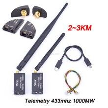Télémétrie Radio 3DR, 433mhz, 433 MW, 2 ~ 3KM, distance du Port TTL et USB pour APM Pixhawk Pixhack