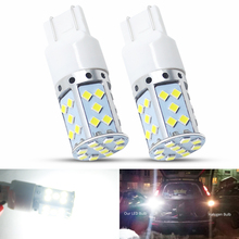 2pcs T20 7443 35 SMD 3030 LED Bulbs White Car Auto Reverse Lights Turn Signal Brake Stop Tail Lights Lamp No Hyper Flash 9-30V pair red 158 smd 1157 2357 7528 led bulbs for turn signal lights tail lights brake stop lights for ford peugeot srt infiniti