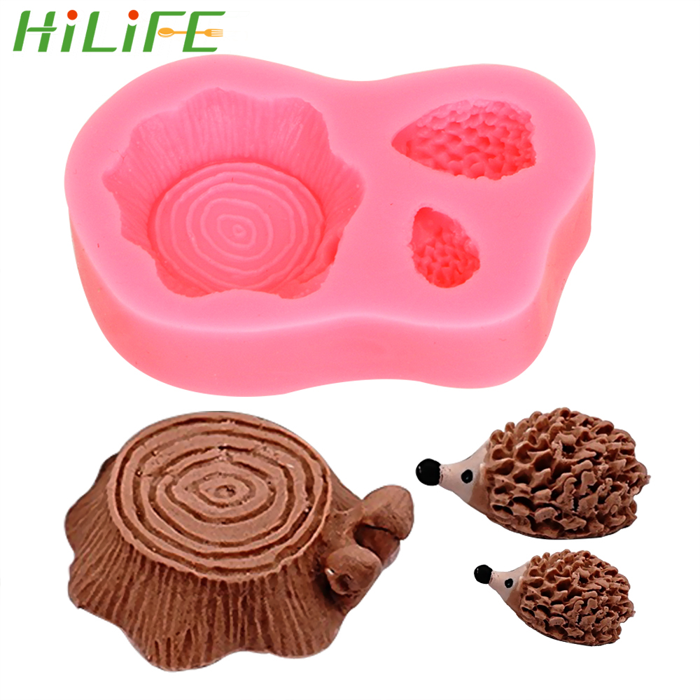 Hilife Hedgehog Stump Silicone Cake Mold Chocolate Mould Cake Decoration Gadgets Bakeware Kitchen Accessories Cake Molds Aliexpress