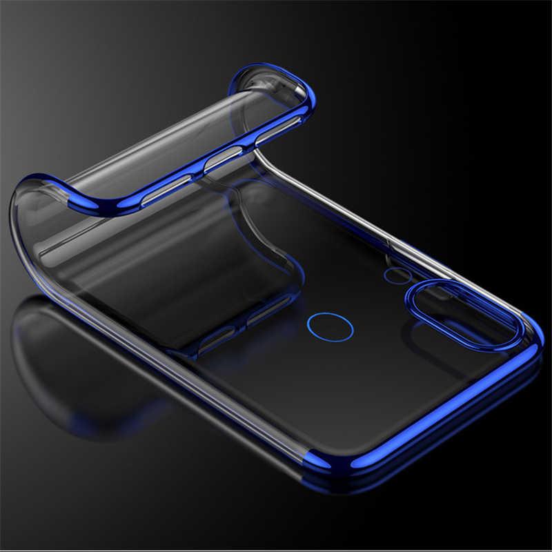 Limpar Magro Chapeamento Macio TPU Casos de Telefone Para Huawei Nova 3i 3e P20 Lite Pro Luxo Tampa Traseira Transparente Para huawei Nova 3 DYee