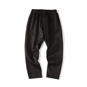 Image 5 - Pantalon pour homme, tendance, confortable, grande taille, 2020, en coton doux, couleur blanc/noir, collection pantalons décontractés