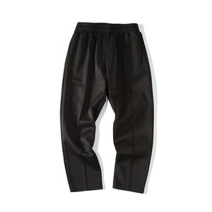 Image 5 - Pantalones informales de algodón suave para hombre, Pantalón moderno, ajustado, cómodo, Color blanco/Negro, talla grande, M 3XL, 2020