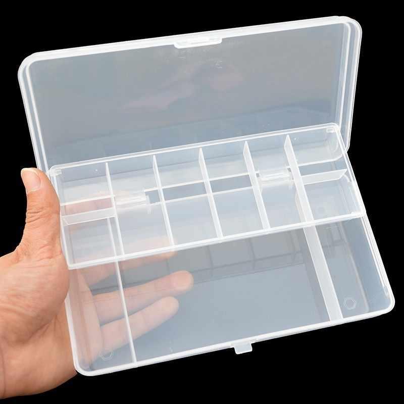 الصيد معالجة صندوق تخزين 1 قطعة واضح البلاستيك طبقتين الصيد اكسسوارات تشكيلة حقيبة للتخزين 20X10X4 سنتيمتر