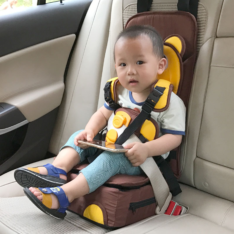 Soft Cotton With Booster And High Density Plastic Seat Strap Adapters 5 Point Seat Belt Portable Children Chair Baby Infant Seat