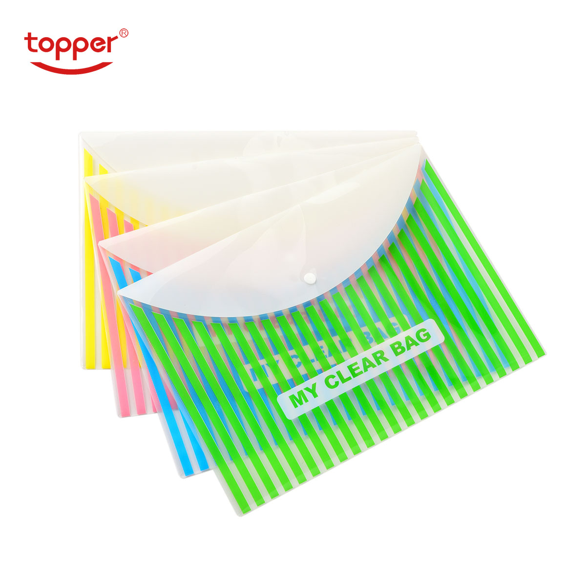 12pcs/set Freeshiping A4/FC Size Transparent Printed Plastic Document Bag Folders Filing Paper Storage Office School Supplies