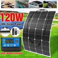 KINCO 120 Вт 18 в гибкие солнечные панели солнечных батарей + 10/20/30/40/50A заряд ШИМ контроллер для наружного телефона освещение RV лодка автомобиль