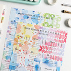 2 Sheet Date Index Stickers Colorful Fruits Adhesive Paper Label Stickers Scrapbooking Diary Diy Albums Decor Material Escolar