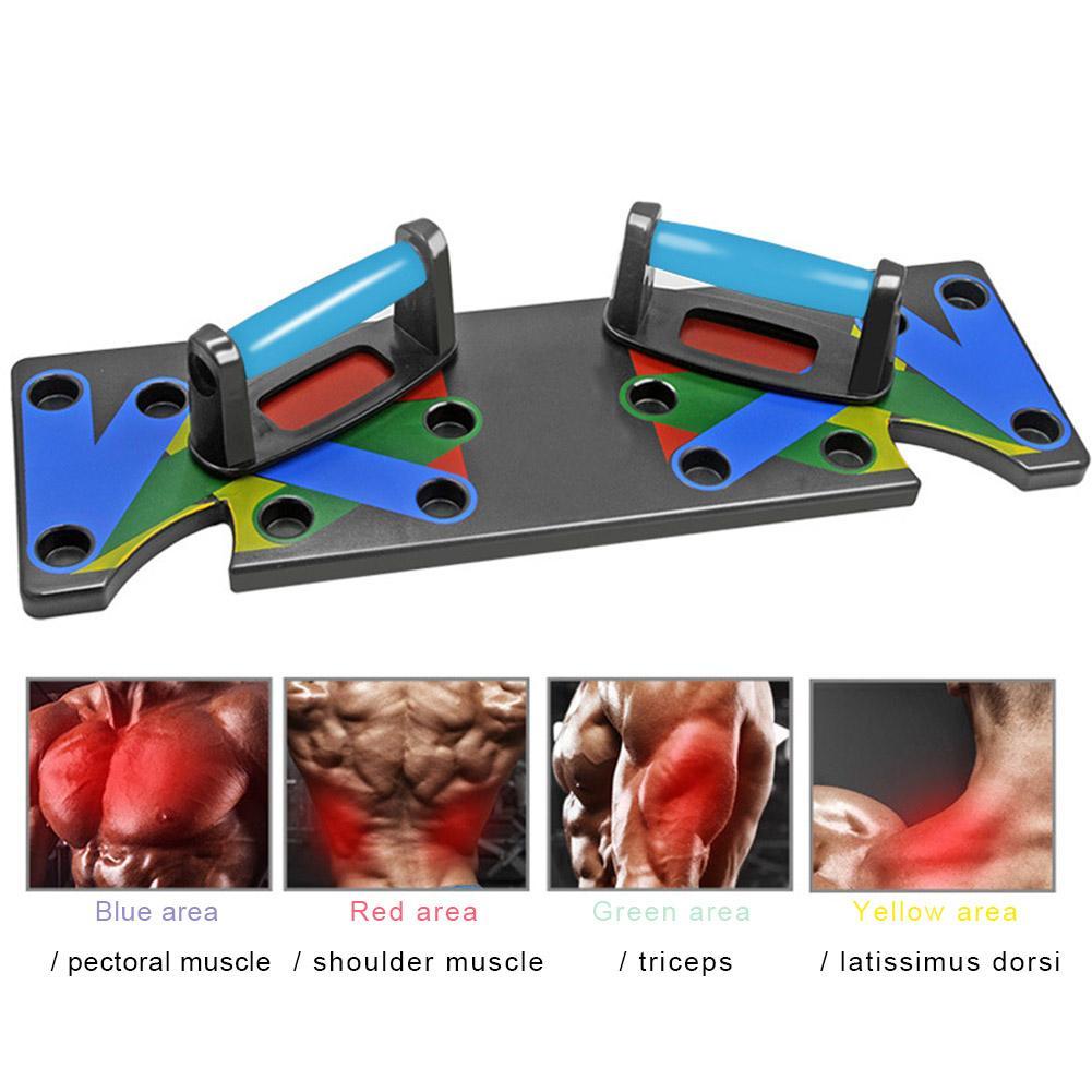Push Up Rack Board système hommes femmes complet Fitness exercice d'entraînement Push-Up Stands musculation entraînement Gym exercice - 5