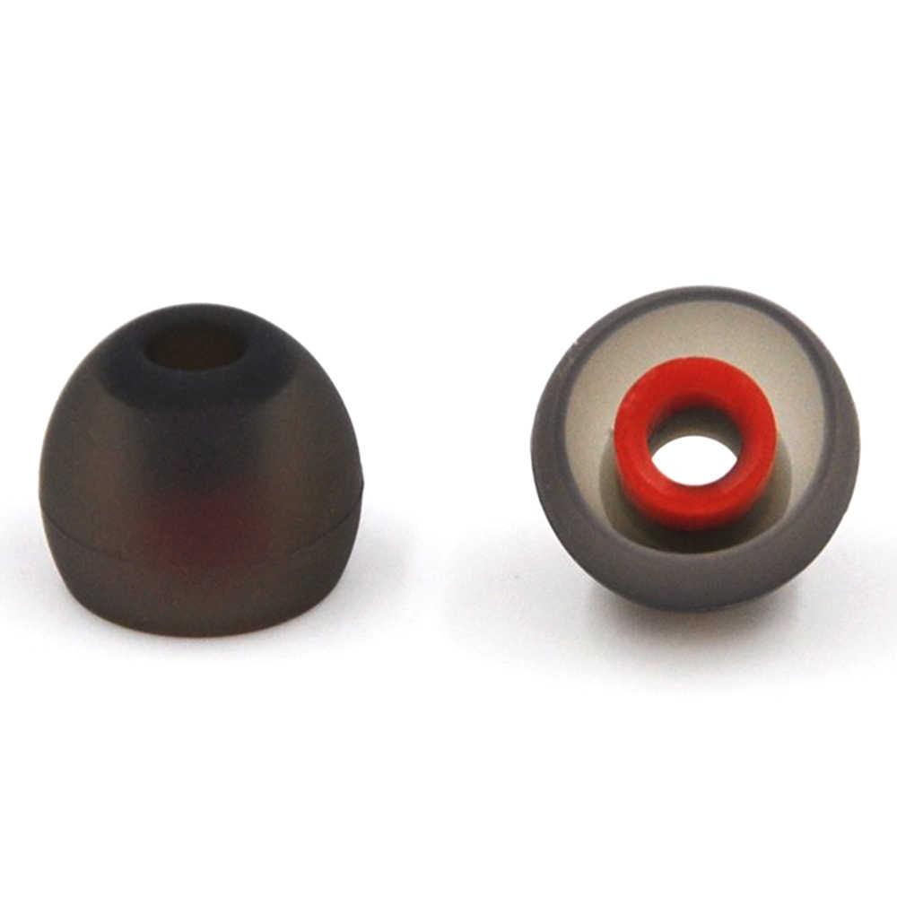 6 قطعة/3 pairs في الأذن سماعة نصائح 3.8 مللي متر الأذن كم يغطي سماعة سيليكون سماعات الأذن ل KZ IE80 سماعة