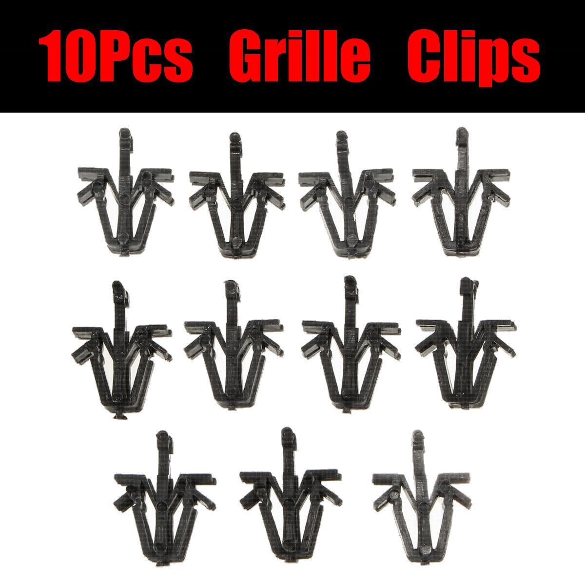 10pcs Brand New 10pcs Radiator Grille Rivet Retainer Grill Clips Nylon For Toyota 4 Runner Pickup RAV4 Tacoma 9046712040
