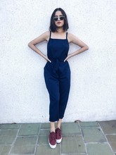 Summer Jumpsuits NEW Women Casual Ladies Solid Sleeveless High Wiast Jumpsuit Suspender Trousers