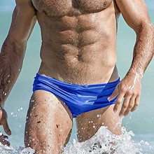 Solid Blue Red White Black Men Swimsuit Sexy Swimwear Man Breathable Swimming Trunks Low Waist Elastic Surfing Swim Briefs S-XL