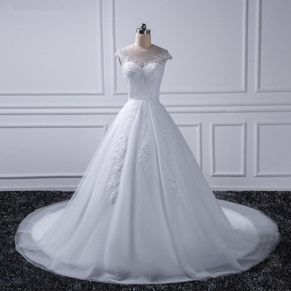 2019 Princesse Plus La Taille Robes De Mariée Robe De Mariée Ivoire Dentelle Blanc Robe De Noiva Vintage Casamento chine-en ligne- magasin