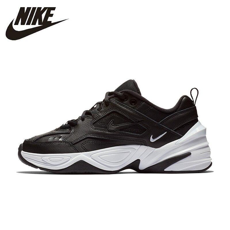 Mulher Tênis Nike Oficial M2k Tekno Nova Chegada Tênis Respirável Confortável Anti-slip # AO3108